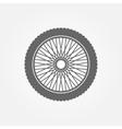 Motorcycle wheel logo vector image