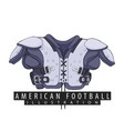 outfit for american football vector image