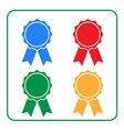 Ribbon award icons set 2 vector image