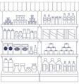 Big set of store products vector image