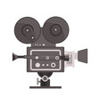 vintage movie camera vector image
