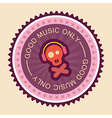 good music label vector image