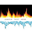 fire vs ice vector image