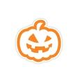 icon sticker realistic design on paper pumpkin vector image