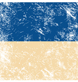 Ukraine retro flag vector image vector image