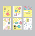 abstract memphis style posters set geometric vector image