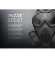 Background of Military black gasmask vector image