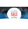 end of winter sale background discount coupon vector image