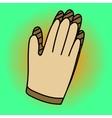 Gloves Pop art vector image