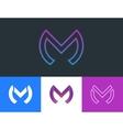m letter logo design creative logotype design vector image