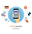 Mobile website authentication concept vector image