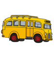 Retro school bus vector image