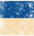 Ukraine retro flag vector image