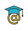 E-learning Outline Icon vector image vector image