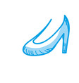 silhouette beautiful high heel shoes design vector image