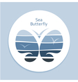 Blue Sea Butterfly vector image vector image