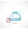Ban food grunge icon vector image vector image