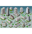 Isometric Buildings vector image
