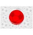 Japan soccer balls vector image vector image
