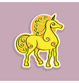 unicorn sticker vector image