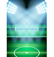 Background for posters night soccer football vector image