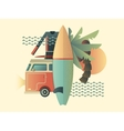 Surfing design concept vector image