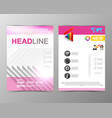 abstract triangle geometric brochure template map vector image