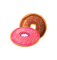 doughnuts on a white background vector image