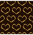 Golden Hearts Pattern vector image