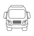school bus student transport outline vector image