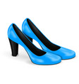 blue shoes women high heels 3d vector image