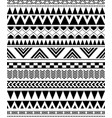 geometric seamless pattern in native americans vector image