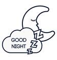 Good Night design vector image