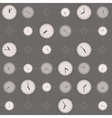 background with different sized clocks vector image