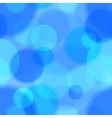 Blue bokeh abstract seamless pattern vector image