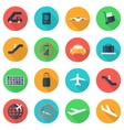 flat airport icons set vector image