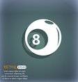 Billiards icon On the blue-green abstract vector image