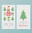 christmas card design Layout template vector image