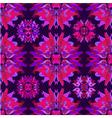 Floral kaleidoscope seamless pattern vector image
