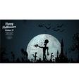 Halloween zombie background vector image