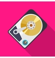 Hard drive icon vector image