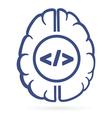htmal tags in human brain vector image