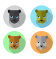 panther head icon vector image