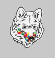 Rainbow Wolf vector image