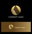 round stripe letter a gold logo vector image