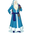 Russian Christmas Character Father Frost in Blue vector image