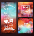 Save the date for personal holiday and thank you vector image