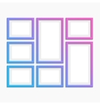 Set of modern photo frames vector image