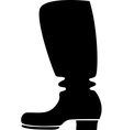 Silhouette of a cowboy boot vector image vector image