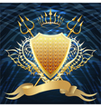 Shield with tridents vector image